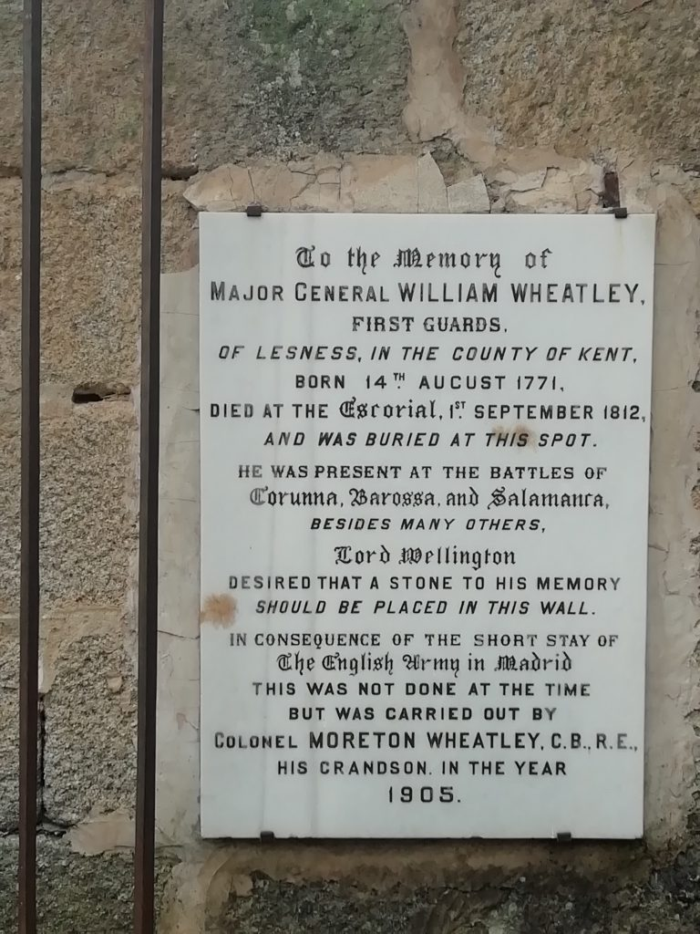 Placa en Memoria del Major General William Wheatley