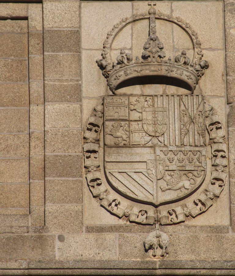 Escudo de Felipe II en el Monasterio de San Lorenzo de El Escorial