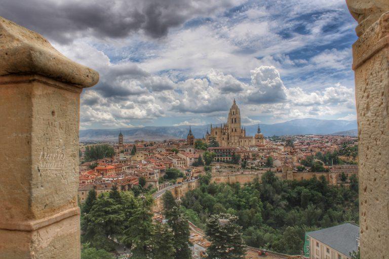 La Catedral de Segovia desde el Alcázar