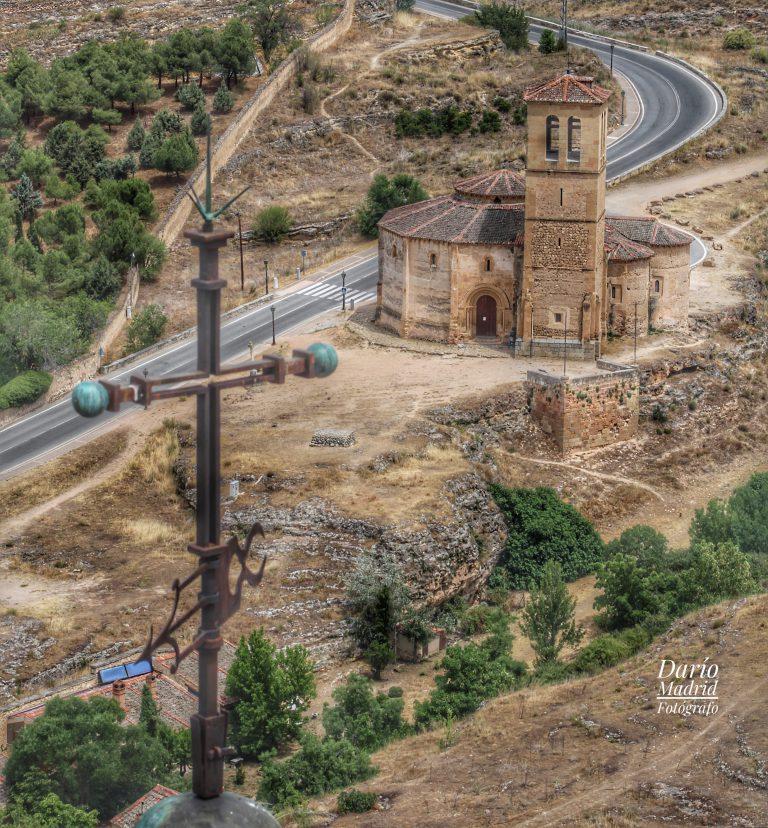 La Iglesia de la Vera Cruz desde la Torre de Juan II de Alcázar de Segovia