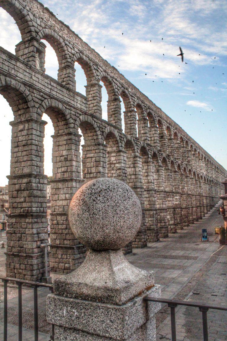 Amaneciendo frente al Acueducto de Segovia