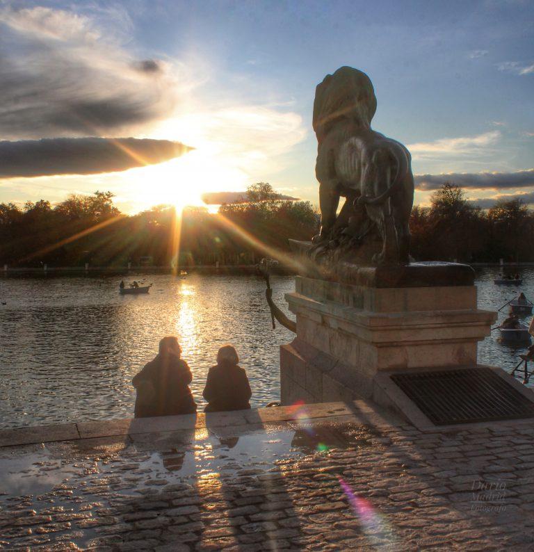 Puesta del Sol en el Parque del Retiro de Madrid
