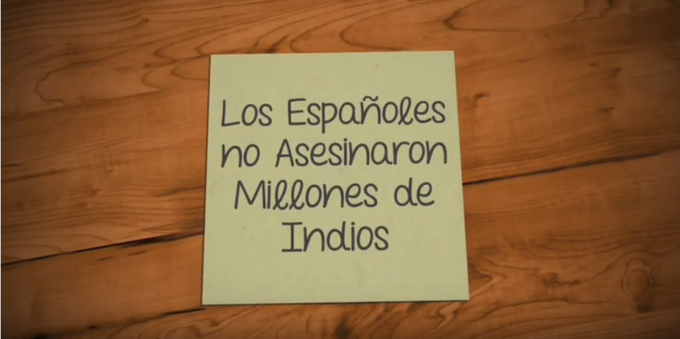 «Los Españoles no Asesinaron Millones de Indios»